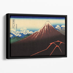 Lightning below the summit by Hokusai Floating Framed Canvas