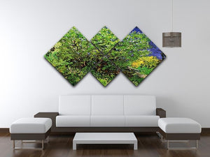 Lilacs by Van Gogh 4 Square Multi Panel Canvas - Canvas Art Rocks - 3