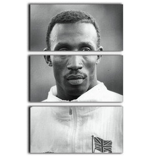 Linford Christie 1991 3 Split Panel Canvas Print - Canvas Art Rocks - 1