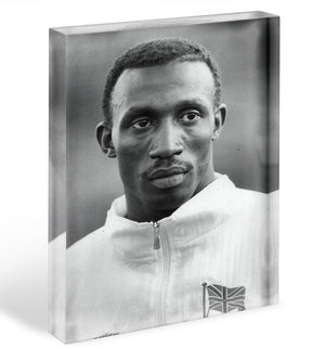 Linford Christie 1991 Acrylic Block - Canvas Art Rocks - 1