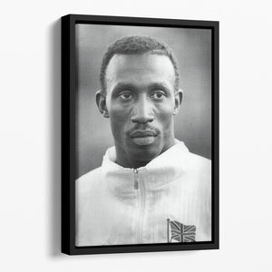 Linford Christie 1991 Floating Framed Canvas - Canvas Art Rocks - 1