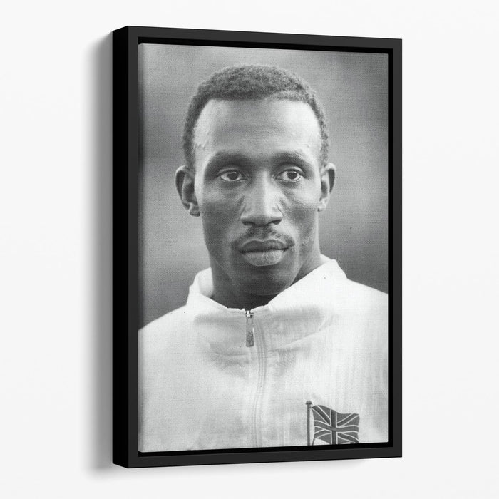 Linford Christie 1991 Floating Framed Canvas