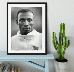 Linford Christie 1991 Framed Print - Canvas Art Rocks - 1