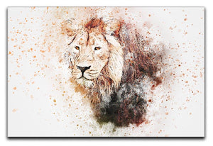 Lion Splatter Canvas Print or Poster  - Canvas Art Rocks - 1