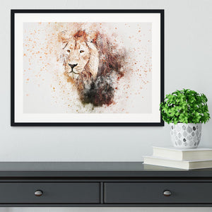 Lion Splatter Framed Print - Canvas Art Rocks - 1