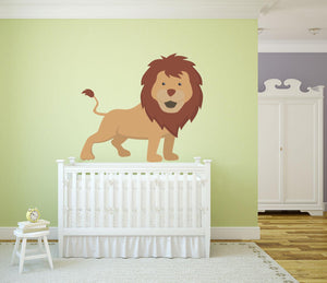 Lion Wall Decal - Canvas Art Rocks - 1