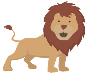 Lion Wall Decal - Canvas Art Rocks - 2