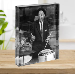 Lionel Hampton on the drums Acrylic Block - Canvas Art Rocks - 2