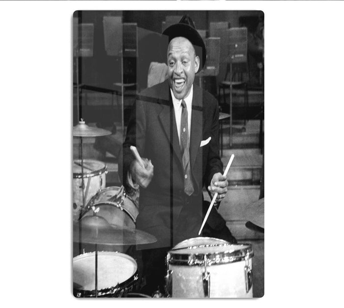 Lionel Hampton on the drums HD Metal Print