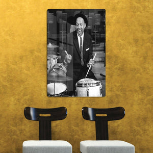 Lionel Hampton on the drums HD Metal Print - Canvas Art Rocks - 2