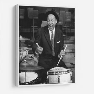 Lionel Hampton on the drums HD Metal Print - Canvas Art Rocks - 7