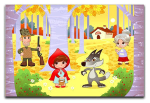 Little Red Hiding Hood scene Canvas Print or Poster  - Canvas Art Rocks - 1