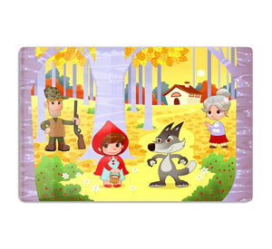 Little Red Hiding Hood scene HD Metal Print