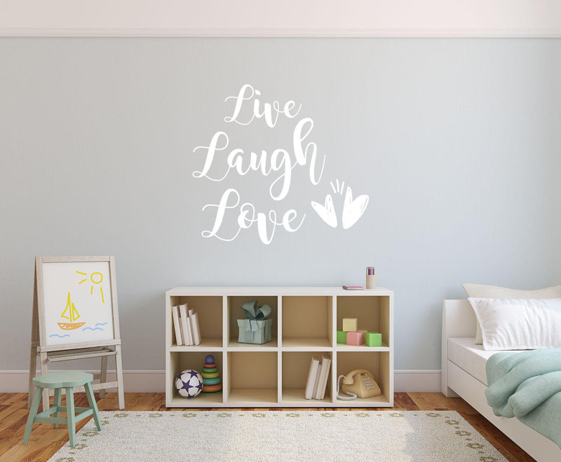 Live, Laugh Love - Version 2 Wall Decal - Canvas Art Rocks - 1