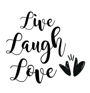 Live, Laugh Love - Version 2 Wall Decal - Canvas Art Rocks - 2