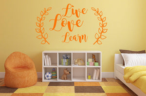 Live, Love Learn Wall Decal - Canvas Art Rocks - 1