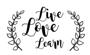 Live, Love Learn Wall Decal - Canvas Art Rocks - 2