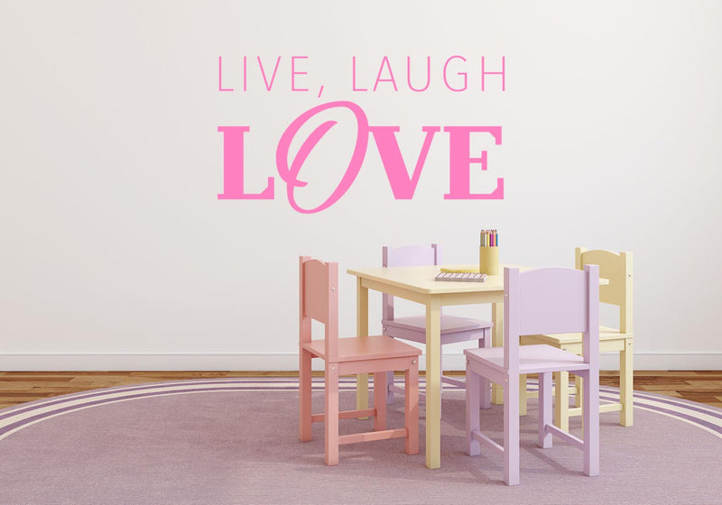 Live, Laugh Love Wall Decal - Canvas Art Rocks - 1