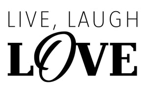 Live, Laugh Love Wall Decal - Canvas Art Rocks - 2