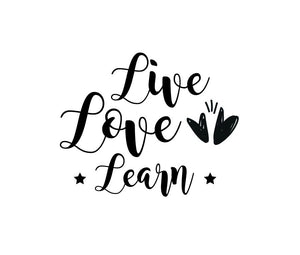 Live, Love Learn - Version 2 Wall Decal - Canvas Art Rocks - 2