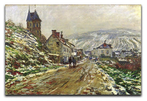 Local entrance of Vetheuil in the winter by Monet Canvas Print & Poster  - Canvas Art Rocks - 1