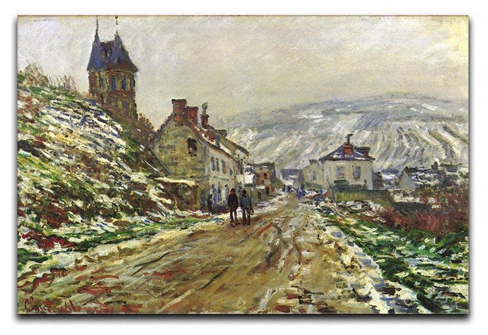 Local entrance of Vetheuil in the winter by Monet Canvas Print or Poster