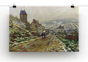 Local entrance of Vetheuil in the winter by Monet Canvas Print & Poster - Canvas Art Rocks - 2