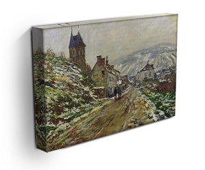 Local entrance of Vetheuil in the winter by Monet Canvas Print & Poster - Canvas Art Rocks - 3