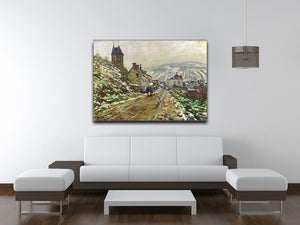 Local entrance of Vetheuil in the winter by Monet Canvas Print & Poster - Canvas Art Rocks - 4