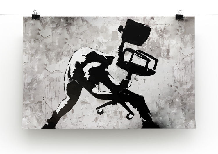 Banksy London Calling Print - Canvas Art Rocks - 3