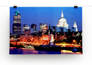 London Skyline at Night Print - Canvas Art Rocks - 2