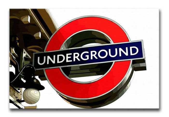 London Underground Sign Canvas Print or Poster