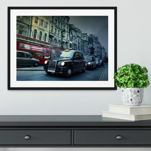 London Street Taxis Framed Print - Canvas Art Rocks - 1