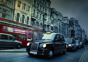 London Street Taxis Wall Mural Wallpaper - Canvas Art Rocks - 1