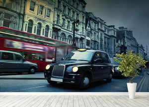 London Street Taxis Wall Mural Wallpaper - Canvas Art Rocks - 4