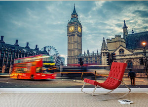 London at early morning Wall Mural Wallpaper - Canvas Art Rocks - 2