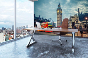 London at early morning Wall Mural Wallpaper - Canvas Art Rocks - 3