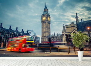 London at early morning Wall Mural Wallpaper - Canvas Art Rocks - 4