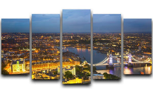 London at sunset City background 5 Split Panel Canvas  - Canvas Art Rocks - 1