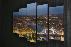 London at sunset City background 5 Split Panel Canvas  - Canvas Art Rocks - 2