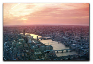 London business and financial aria view Canvas Print or Poster  - Canvas Art Rocks - 1