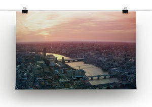 London business and financial aria view Canvas Print or Poster - Canvas Art Rocks - 2