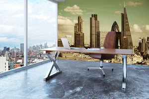 London city rooftop view with urban architectures Wall Mural Wallpaper - Canvas Art Rocks - 3