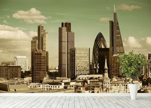 London city rooftop view with urban architectures Wall Mural Wallpaper - Canvas Art Rocks - 4