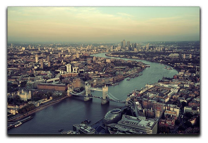 London rooftop view panorama at sunset Canvas Print or Poster