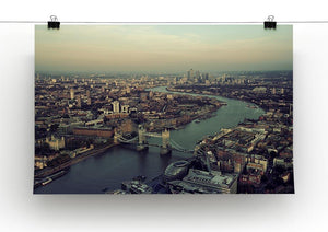 London rooftop view panorama at sunset Canvas Print or Poster - Canvas Art Rocks - 2