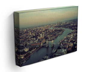 London rooftop view panorama at sunset Canvas Print or Poster - Canvas Art Rocks - 3