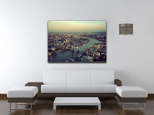 London rooftop view panorama at sunset Canvas Print or Poster - Canvas Art Rocks - 4