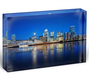 London skyscrapers reflected Acrylic Block - Canvas Art Rocks - 1