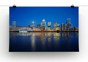 London skyscrapers reflected Canvas Print or Poster - Canvas Art Rocks - 2
